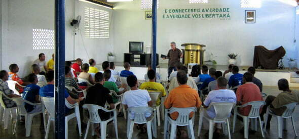 Teaching interns at Christland in Paudalho.