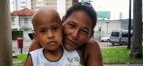 Prazeres & her son Anderson