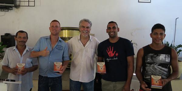 This week's devotional winners: (L to R) João Angelo, Diego, Marlon, and Rodolfo