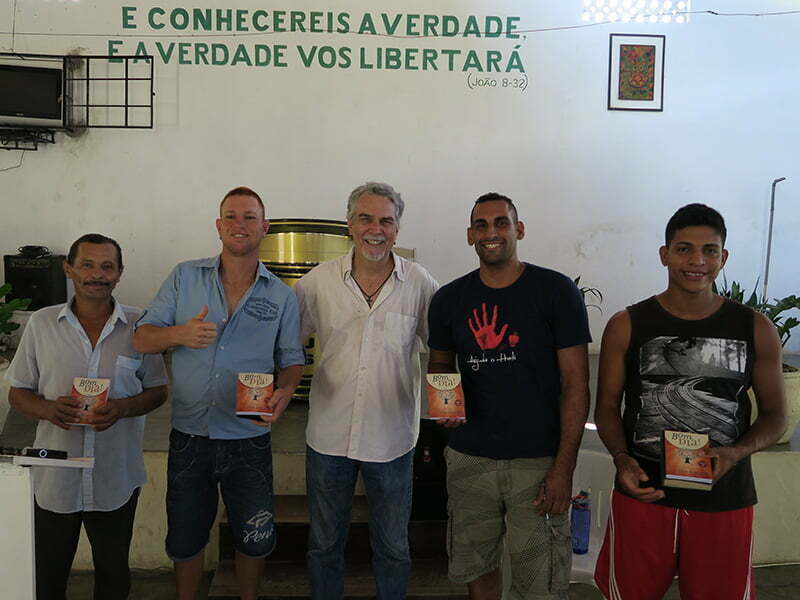 This week's devotional winners: (L to R) João Angelo, Diego, Marlon, and Rodolfo