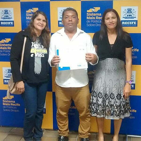 André and Luciana on his graduation from trade school. (Pastor Gildo's wife Ana Nery on the left.)