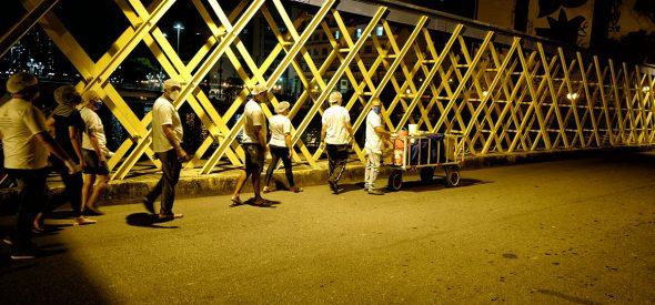 Iron bridge on Empress Street.